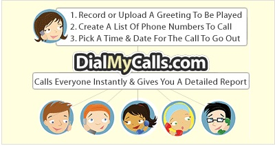 Use Dial My Calls to Send One Message to a Group of People