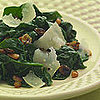 Textured Side: Sauted Spinach with Pine Nuts &amp; Golden Raisins