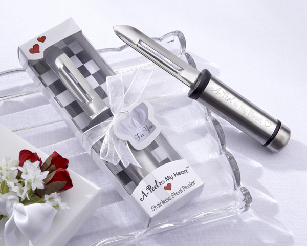 "This stainless-steel peeler will ""a-peel"" to their hearts!"