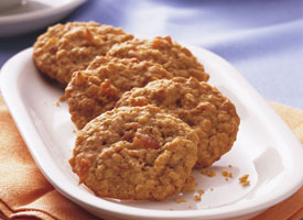 Instead of a tart berry, cherry or raisin, try adding other dried fruits to your oatmeal cookies. A good place to start is with this Apricot Oatmeal Cookie recipe.