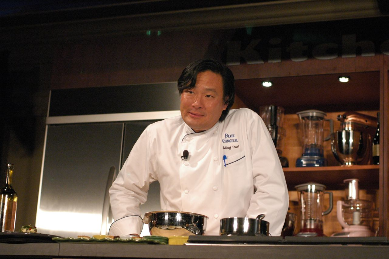 Ming Tsai, before he had the tofu on his face!
