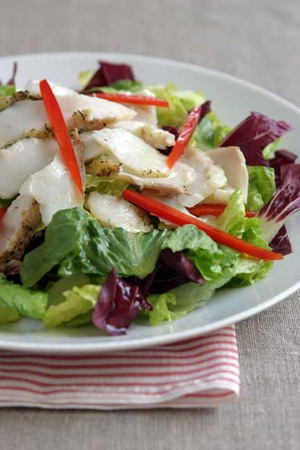 Grilled Halibut Salad