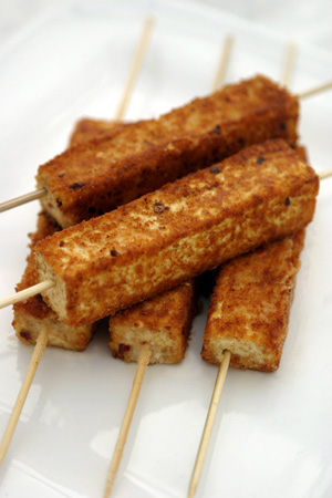 Sunday BBQ: Savory Tofu-on-a-Stick
