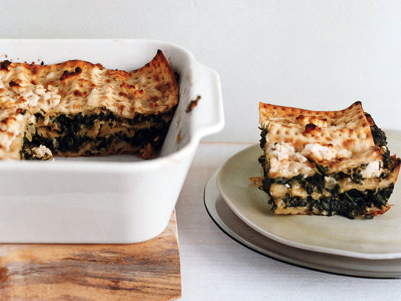 Spinach Matzoh Pie