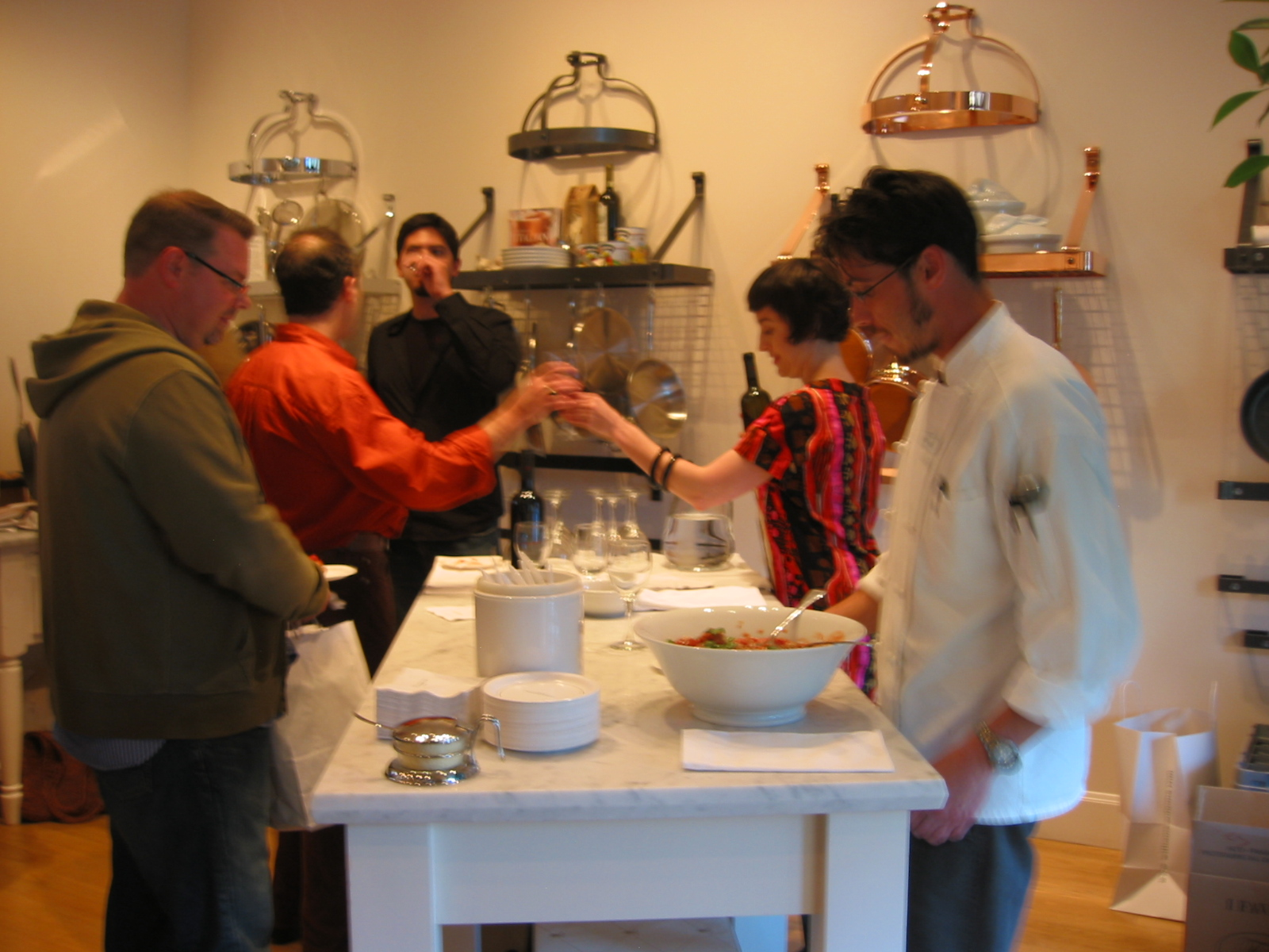 The red wine pairing was so popular, a line trailed from the serving table halfway through the room.