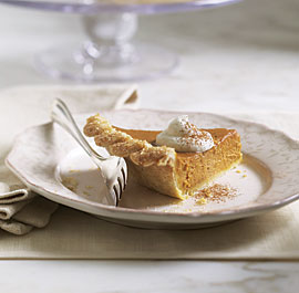 Sugar and Spice Pumpkin Pie With Brandied Ginger Cream