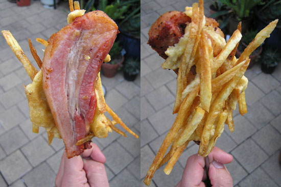 Deep Fried Bacon on a Stick