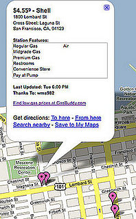 Find Gas Prices On Google Maps