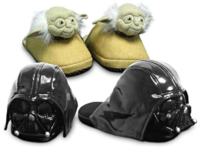 Yoda and Darth Vader Slippers