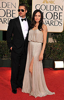 Photos of Brad Pitt and Angelina Jolie at the 2009 Golden Globe Awards