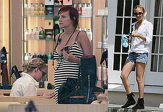 Photos of Nicole Richie and Pregnant Ashlee Simpson Shopping at Barneys