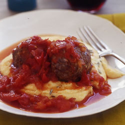 Fast & Easy Dinner: Roasted Lamb Meatballs With Polenta