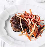 Fast and Easy Dinner: Steak With Root Vegetables
