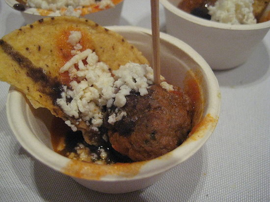 La Cocina offered guests a Mexican treat in the form of a spicy meatball.