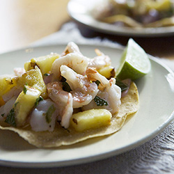 Monday's Leftovers: Pineapple-Shrimp Tostadas