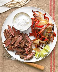 Seared Steak Fajitas