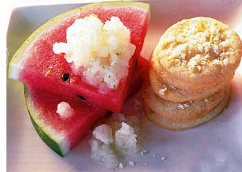 Lime Ice on Watermelon