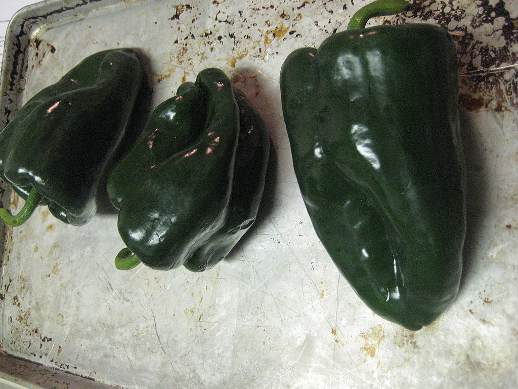 Poblanos Stuffed with Chorizo, Shrimp and Rice