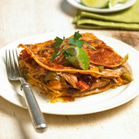 Fast & Easy Dinner: Layered Turkey Enchiladas