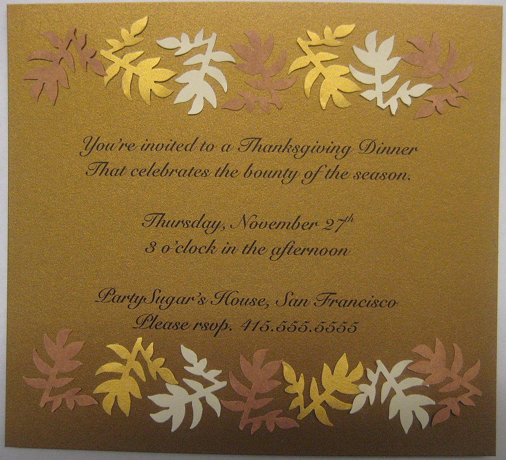 Foodie Thanksgiving Invites: Step by Step