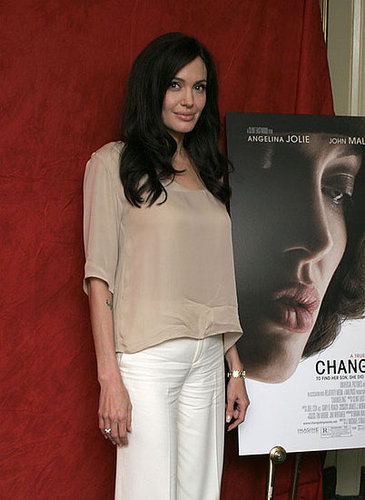 Angelina at 'The Changeling' press conference this afternoon.