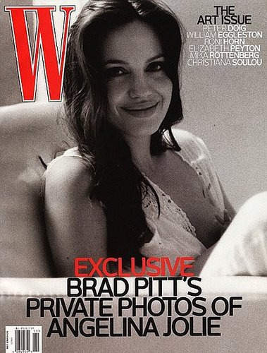 Angelina on the cover of W Magazine, as photographed by Brad
