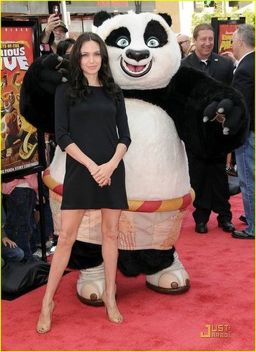 Angelina Gets Leggy @ the DVD Release of 'Kung Fu Panda'