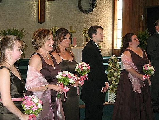My attendants.  My brother was a bridesman.