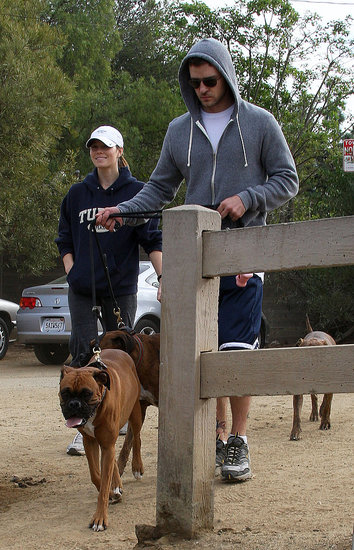 Jessica Biel and Justin Timberlake Walk Their Dogs