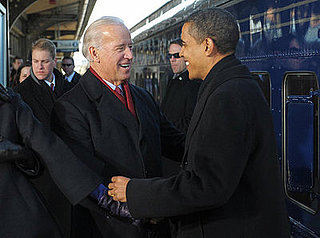 All Aboard! Obama Picks Up Biden On His Way To Washington