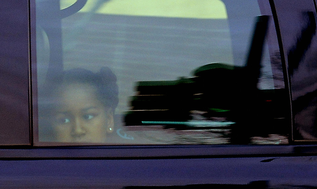 Sasha Obama Heads to School