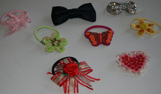 Ponytail Holders and Bow Ties