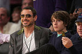 Robert Downey Jr. and Son are Lakers Fans