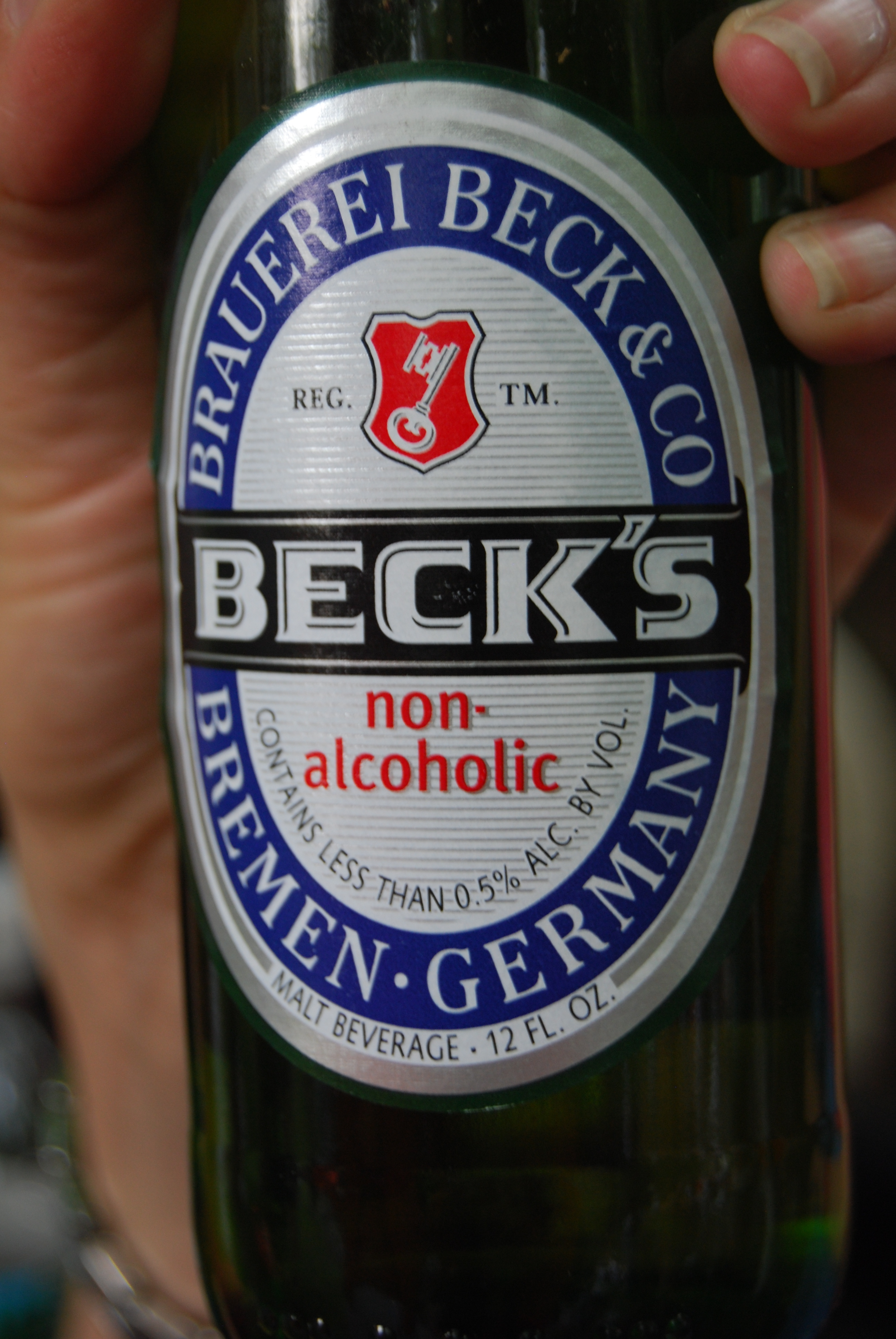 Beck's non-alcoholic beer made others turn their heads at the expectant mothers.