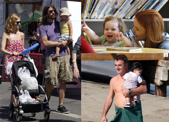 Celebrities and Their Babies Over the Weekend 2008-06-30 16:08:19