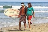 Matthew and Camila Keep It Cool in the Surf