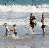 Kate and Ryder Have a Splash in the Waves