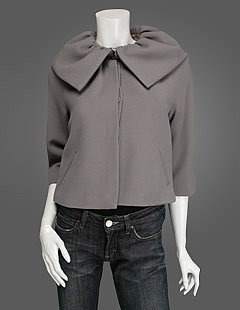 Ruffle collar jacket