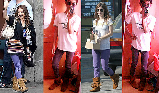 Inspired by the Celeb: Purple Jeans+Fringe Boots