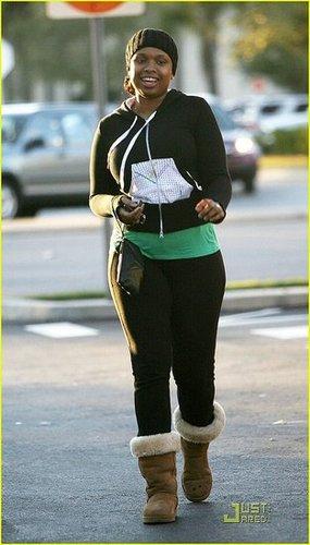 Jennifer Hudson Prepares Grammy Performance