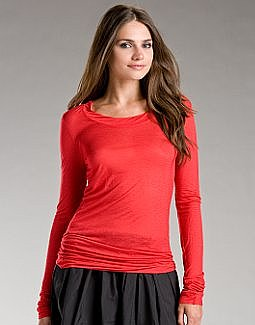 DKNY.com: Viscose Long Sleeve Tee
