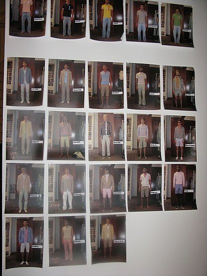 Backstage at Perry Ellis