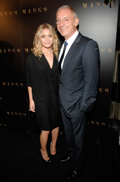 Ashley Olsen and President of Mango Isak Andic