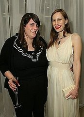 April 2007, Kate with Liz Goldwyn at a Rodarte cocktail party at Neiman Marcus