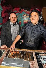 Paul Birardi, Eddy Chai (owners of Odin, Den, Pas de Deux, Hosts of Party)