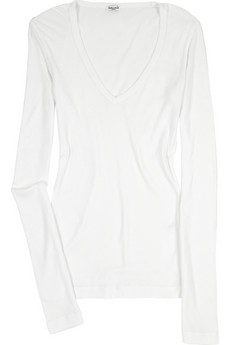 Splendid V-Neck Cotton Shirt $46, Net-a-Porter