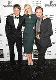 Jefferson Hack, Claudia Schiffer, Nicholas Kirkwood (Swarovski Emerging Talent Award)