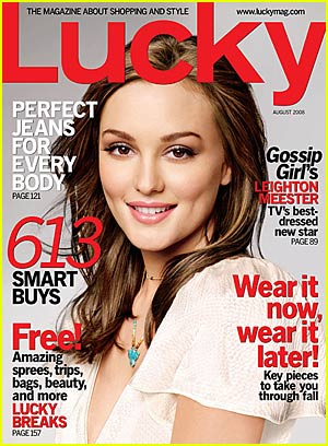 "Leighton Meester - ""Lucky"" Magazine August 2008"