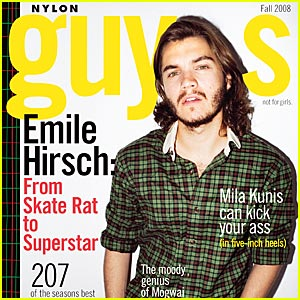 Emile Hirsch Covers Nylon Guys