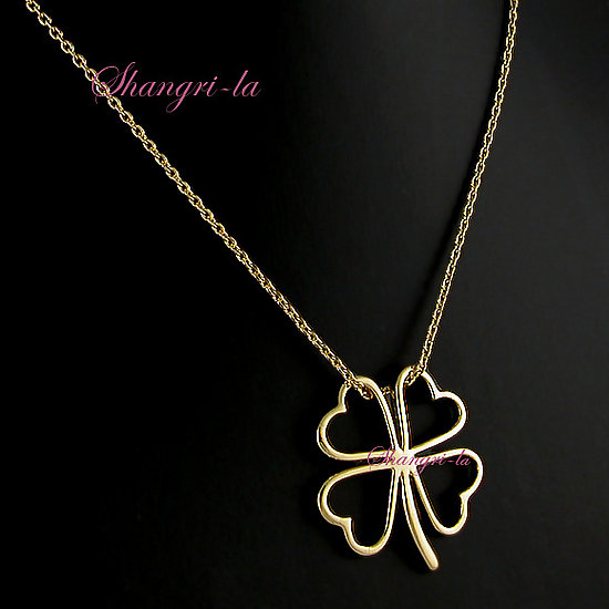 STUNNING 18ct GOLD PLATED 4 LEAF CLOVER NECKLACE L103 - eBay (item 370054021675 end time May-24-08 19:57:12 PDT)